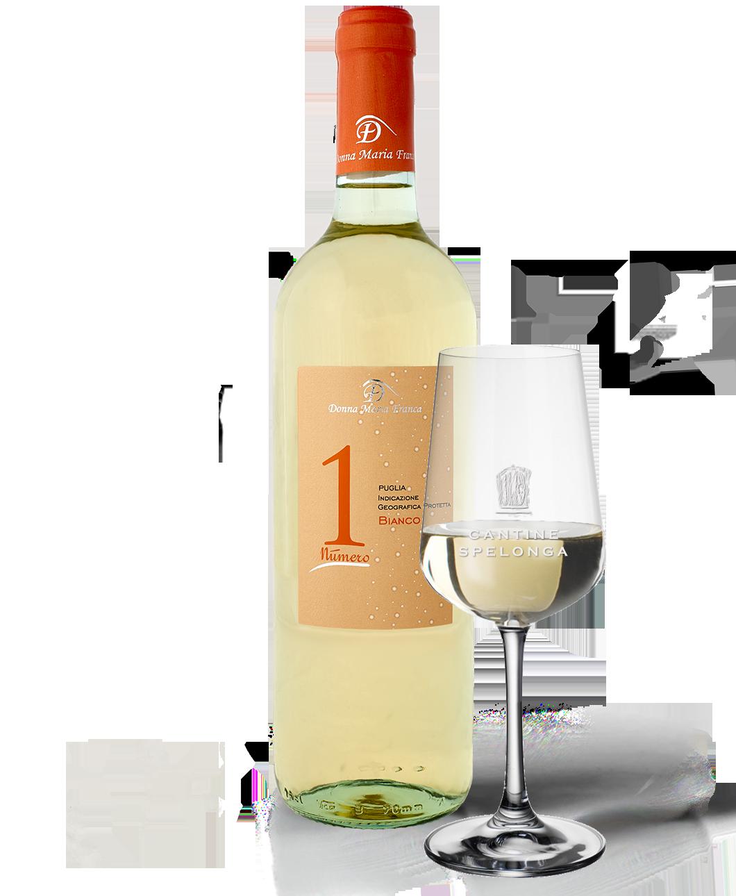 Bottiglia e calice di vino Numero 1 di Cantine Spelonga