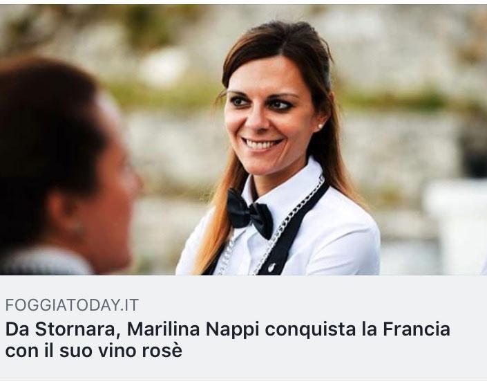 Immagine Marilina Nappi per articolo Conquista la Francia con il suo vino rosè su Foggia Today