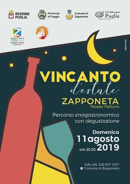 Copertina evento Vincanto d'Estate 2019 Percorso gastronomico con degustazione a Zapponeta